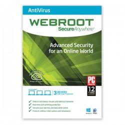 WEBROOT Antivirus 1 Year / 3 Users