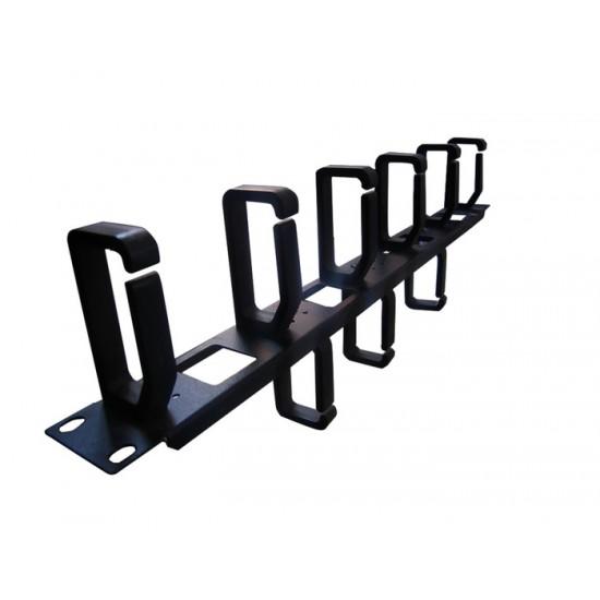 CABLE MANAGER NONAME 1U 5F/3B HOOK BLACK METAL/PLASTIC
