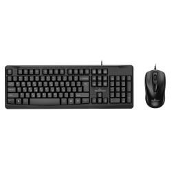 POWERTECH set ποντίκι & πληκτρολόγιο PT-933, ενσύρματο, 1000dpi, μαύρο