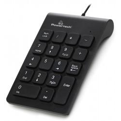POWERTECH ενσύρματο αριθμητικό πληκτρολόγιο PT-938, USB, μαύρο