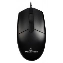 POWERTECH ενσύρματο ποντίκι PT-964, οπτικό, 1000DPI, μαύρο