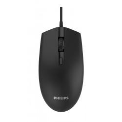 PHILIPS ενσύρματο ποντίκι SPK7204-ΒΚ, 1200DPI, USB, 4 πλήκτρα, μαύρο