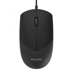 PHILIPS ενσύρματο ποντίκι SPK7244, USB, 3 πλήκτρα, μαύρο