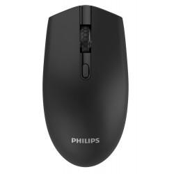 PHILIPS ασύρματο ποντίκι SPK7404, 1600DPI, 4 πλήκτρα, μαύρο