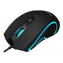 PHILIPS ενσύρματο gaming ποντίκι SPK9413, 6400DPI, 6 πλήκτρα, μαύρο